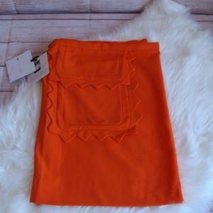 Victoria Beckham Orange Twill SKIRT size 3XL